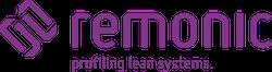 remonic GmbH . Lean Production . Hubtür . Fertigungslinie . Betriebsausstattung . Arbeitsplätze . Regalsysteme . Materialflusstechnik . Transfersysteme . Maschinensicherheit . Hubtüren . Reinraum . Einhausungen . Applikationsbau. Maschinenbausysteme . Systemkomponenten . Aluminiumprofil . Zubehör Logo