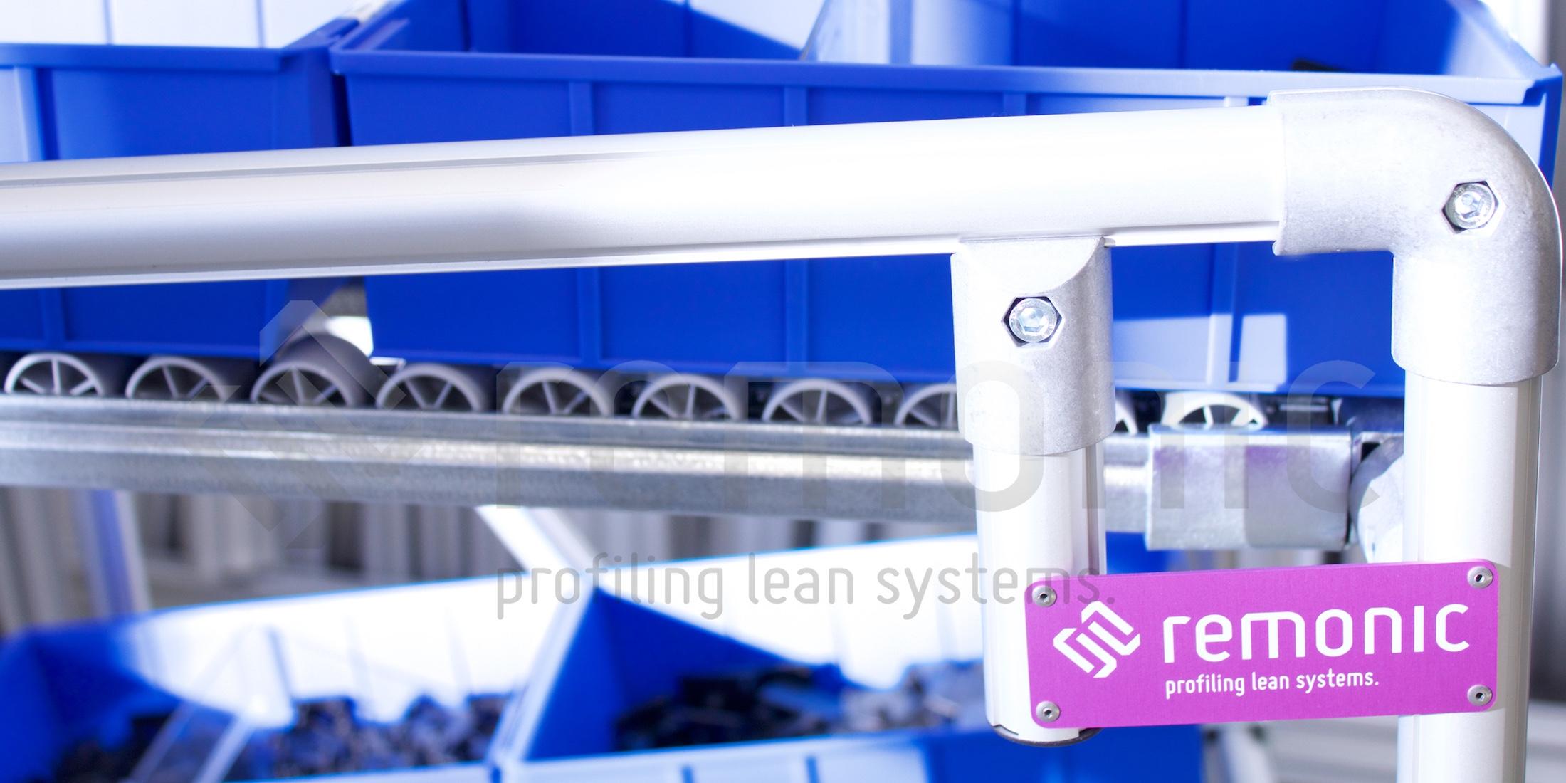 Als Hersteller von standardisierten Zuführsystemen und Regalen für Ihren Materialfluss hat sich remonic® einen guten Namen auf dem Markt gemacht.